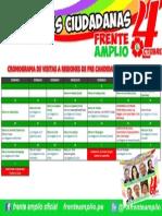 Cronograma de Actividades y Visitas de Candidat@s