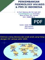 Perkembangan Epidemiology HIV-AIDS& PMS Di Indonesia