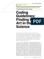 Coding Guidelines Finding the Art in the Science