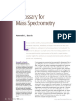 A Glossary for Mass Spectrometry
