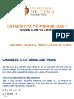 ULIMA - Estadística y Probabilidad I - 2015-1 Variables Aleatorias Continuas
