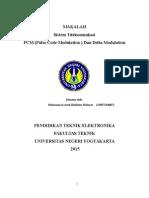 Makalah PCM & Delta Modulation Muhammad Arief Bakhtiar Hidayat