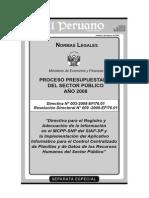 DIRECTIVA N° 003-2008