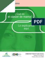 Cáncer de Mama ESMO/ACF Patient Guide Series basada en las Guías de Práctica Clínica de la ESMO