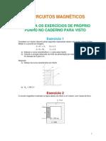 Circuitos Magneticos Exercicios Propostos 2015