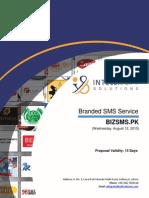 BizSMS.pk Proposal