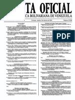 Sumario Gaceta Oficial 39.382