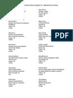 CERI 2015 Petrochemical Conference Delegate List