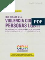 CIDH - Registro de Violencia LGBTI (2015)