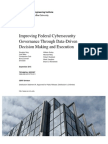 Improving Federal Cybersecurity Governance Through Data-Driven Decision Making and Execution