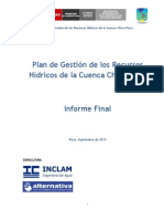 Plan de Gestión de Recursos Hidricos de Cuenca Chira Piura