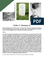 Walter C. Monegan, Jr. Medal of Honor Citation
