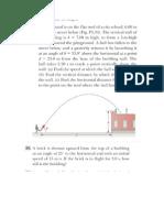 projectile motion problem solving