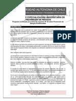 Diplomado de Especialización Universitaria en Prevención de Riesgos 2015 3