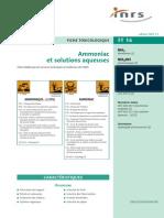 Ammoniac et solutions aqueuses