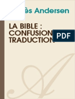 AGNES ANDERSEN-La Bible Confusion de Traduction