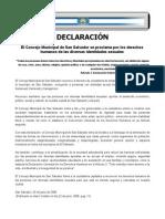 Declaración Derechos Humanos y Diversidad Sexual San Salvador