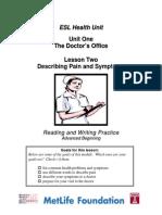 unit1 beg lesson2pain and symptoms