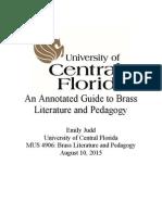 mus 4906 brass literature and pedagogy portfolio