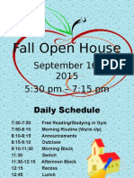 fall open house 2015