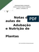 Notas de Aulas de Adubação e Nutrição de Plantas - 1ª Parte