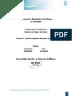Unidad 1. Administración de base de datos