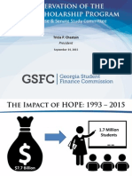 Georgia Student Finance Commission - HOPE Preservation Study Presentation