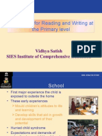 Readiness for Reading and Writing at the Primary- Vidhya S