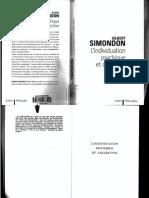 Gilbert Simondon L'Individuation Psychique Et Co