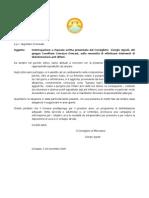 Egr. Sig. Sindaco e p.c. Segretario Comunale