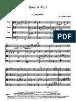 VillaLobos - String Quartet No. 1 (Score)