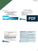 Reunión Informativa Oposiciones Secundaria 2016