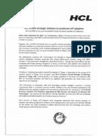 HCL unveils strategic initiative to accelerate loT adoption [Company Update]