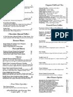 4 Olives Dessert Menu 9-15-15