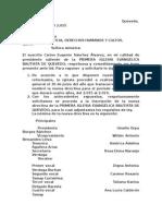 Cartas a Ministerio