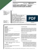 NBR 10829 Caixilho Para Edificação - Janela- Medição Da Atenuação Acústica