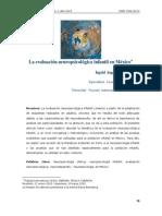 La evaluacion neuropsicologica en México