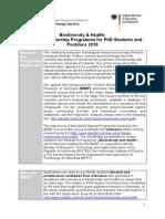 Ausschreibung en Stipendien Biodiversity