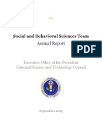 US Executive Office of the President ~ National Science and Technology Council - Social and Behavioral Sciences Team - Annual Report - September 2015