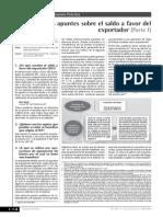 Algunos Apuntes Sobre El Saldo a Favor Del Exportador I PARTE (1)
