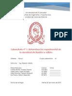 Lab 1 - Determinacion Experimental de La Densidad de Líquidos y Sólidos