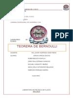 Laboratorio Mecanica de Fluidos Lab 3 Bernoulli