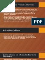 NIC 34 Información Financiera Intermedia