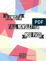 PASS Fall Newsletter 2015