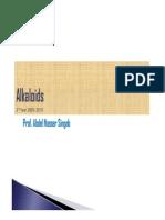 PPT. Alkaloids