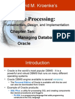 Working With Oracle