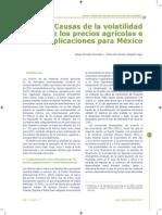 Volatilidad de Precios Productos Agricolas