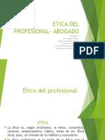 Etica Profesional Del Profesional en Derecho