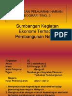 Modul P&P Geografi Tingkatan 3 (PMR) Sumbangan Pembangunan Ekonomi