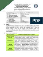 p401 Silabo de Educación Ambiental Eap Csh 2015 II
